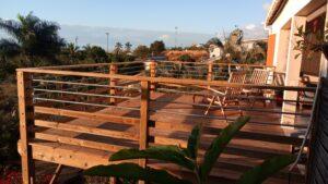 construction garde corps bois métal